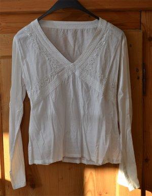 Tunique-blouse blanc coton