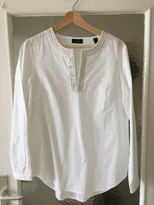 Tchibo / TCM Blusa de túnica blanco-color plata