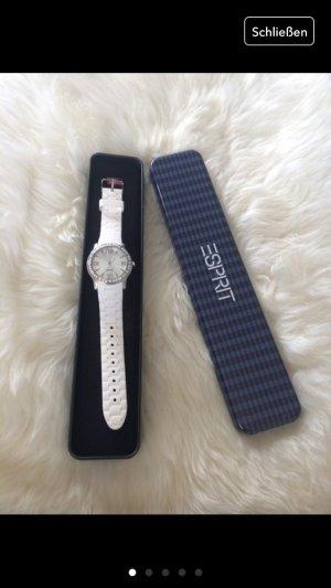 Weiße Uhr von Esprit neuwertig