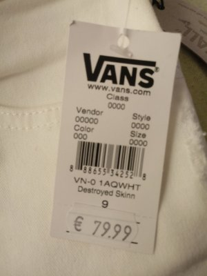 Vans Jeansjurk wit