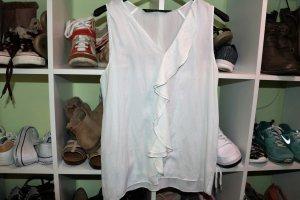 Weiße verspielte Bluse