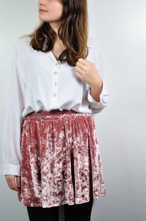 Weiße Vintage Bluse mit Perlmutt Knöpfen