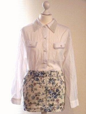 Weiße Vintage Bluse (oversize)