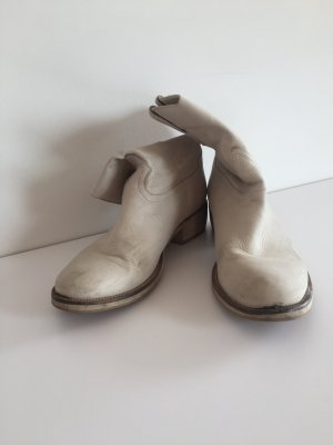 Boots white leather