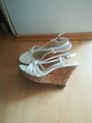 weiße wedges Sandaletten