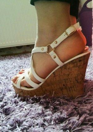 Weiße Wedges Sandaletten *Neu* Gr 36
