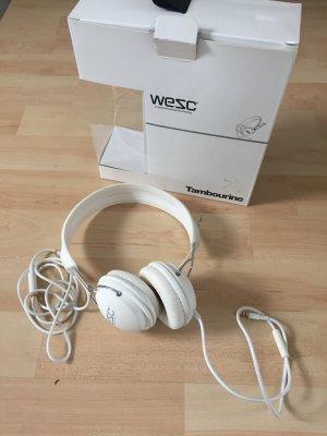Weiße WESC tambourine Kopfhörer