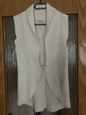 Yessica Cardigan all'uncinetto bianco sporco