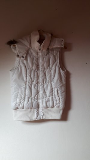 Tally Weijl Quilted Gilet white-light grey
