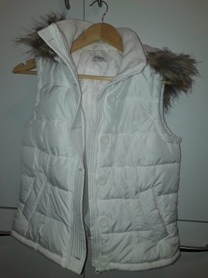 Pimkie Hooded Vest white polyester