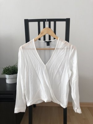 H&M Wraparound Blouse white viscose