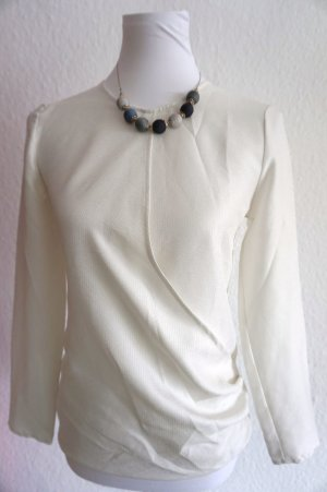 Mango Blouse portefeuille blanc polyester