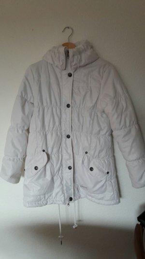 Weiße Winterjacke von Soccx in Größe M mit Stehkragen