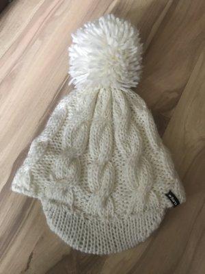 Weiße wintermütze von barts cremefarbend