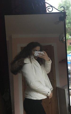 Weiße Woolrich Jacke original Winterjacke