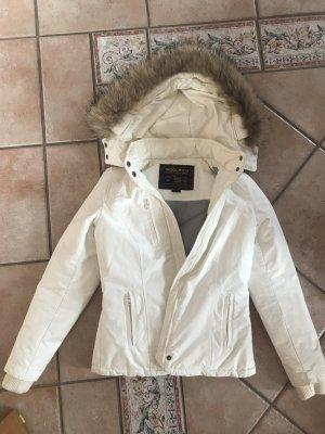 Weiße Woolrich Winterjacke S