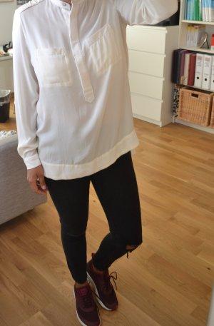 Weiße Zara Bluse Gr. M