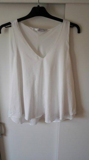 Weiße Zara Bluse Größe 40