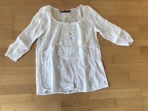 Zara Camicetta a maniche lunghe bianco