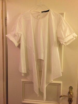 weiße Zara Bluse zum Knoten