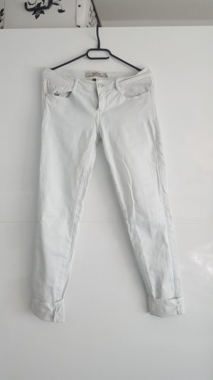 weiße zara jeans