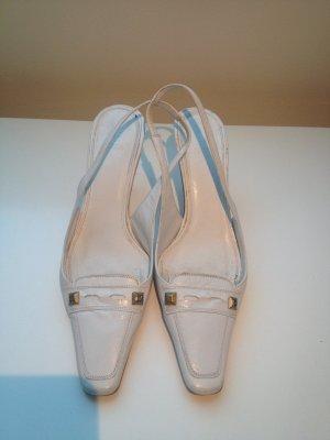 Zara Tacones blanco-color oro