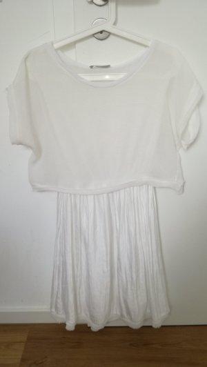 weissen Kleid von Zara in Lagenoptik, Gr.S/36