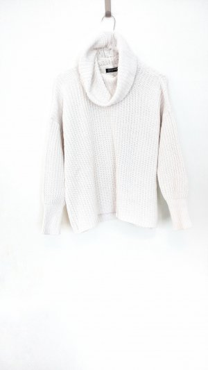 American Apparel Pull-over à col roulé blanc coton