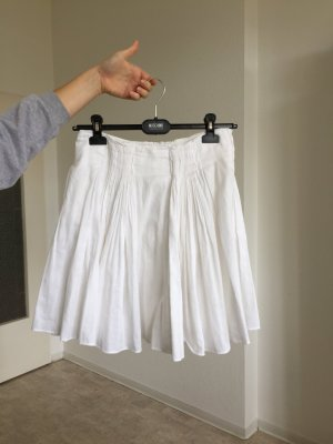 Prada Pleated Skirt white cotton
