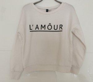 Weißer bequemer Pullover