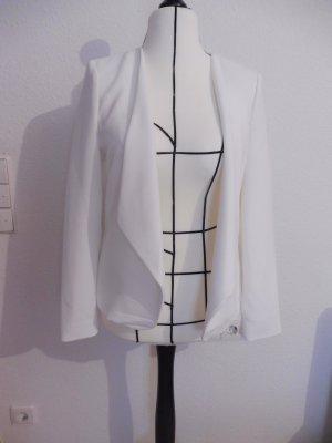 Mango Short Blazer white polyester