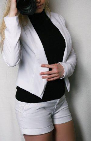 Amisu Blazer corto blanco Poliéster