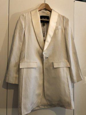 Dolce & Gabbana Long Blazer white-natural white