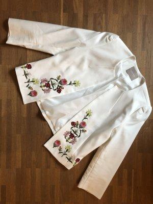 Weißer Blazer - Floral - NEU - M - 38