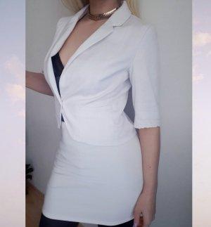 H&M Tuxedo Blazer white