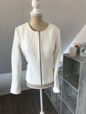 Mango Blazer blanco-color plata