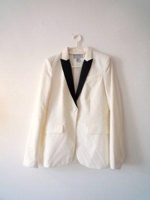 H&M Blazer stile Boyfriend bianco-nero