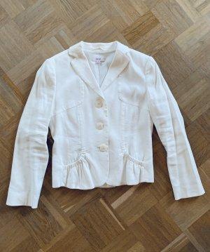 Weißer Blazer/ Sakko/ Jackett Leinen von Laurel Gr. 36-38/ EU S-M