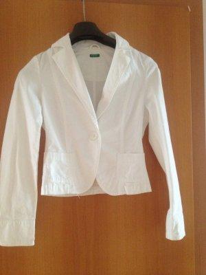 Weißer Blazer von Benetton, Größe 32-34