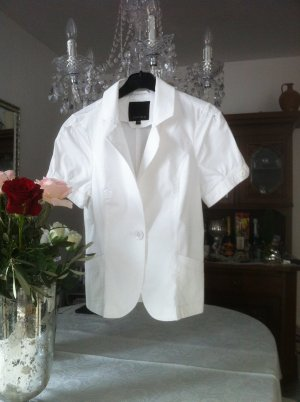 Weißer Blusen-Blazer Gr. 36 S