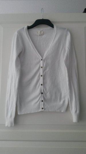 weißer Cardigan, Größe 34