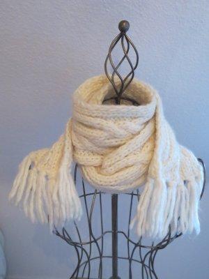 Écharpe en tricot blanc cassé