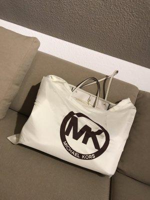 weißer/cremefarbiger Michael Kors Shopper