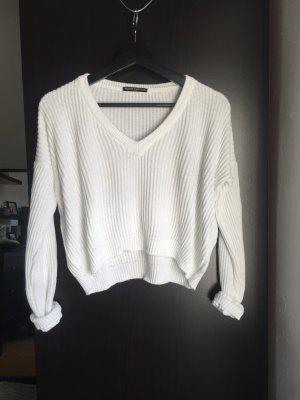 Weißer crop Pullover!