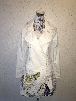 Weißer Desigual Übergangsmantel Parisina Größe 36; neuwertig