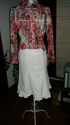 Flounce Skirt white cotton