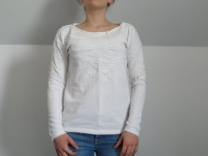 Esprit Jersey de cuello redondo blanco Algodón