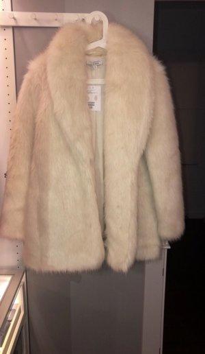 Weißer Faux Fur Mantel