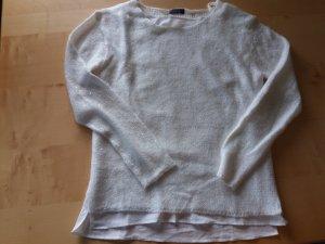 weißer glitzerder Pullover