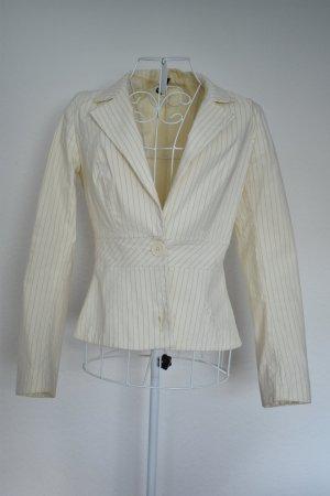 Weißer Goldnadelstreifen Blazer tailliert by H&M